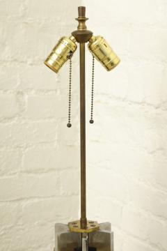 Willy Rizzo 1970s Lamp of Cast Brass and Nickel by Willy Rizzo - 271788