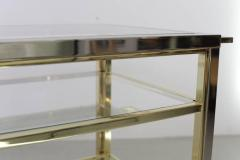 Willy Rizzo Bar Cart in Chrome and Brass attributed to Willy Rizzo - 538743