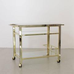 Willy Rizzo Bar Cart in Chrome and Brass attributed to Willy Rizzo - 538746