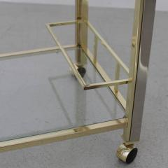 Willy Rizzo Bar Cart in Chrome and Brass attributed to Willy Rizzo - 538747