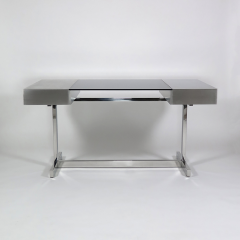 Willy Rizzo Desk in brushed steel - 973518