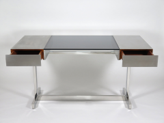 Willy Rizzo Desk in brushed steel - 973519