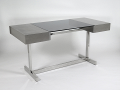 Willy Rizzo Desk in brushed steel - 973520