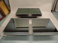Willy Rizzo Italian Mid Century Expandable Coffee Table Pair of End Tables by Willy Rizzo - 1770260