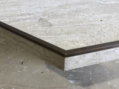 Willy Rizzo Italian Modern Travertine Marble Coffee Table for Jean Charles Willy Rizzo - 1464003