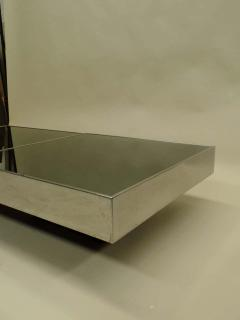 Willy Rizzo Large Two Part Italian Mid Century Modern Coffee Table by Willy Rizzo for Cidue - 1722691