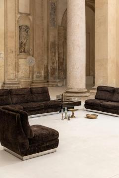Willy Rizzo Living Room Set Two Sofas Two Armchairs and One Coffee Table - 1835074