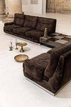 Willy Rizzo Living Room Set Two Sofas Two Armchairs and One Coffee Table - 1835075
