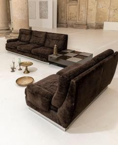Willy Rizzo Living Room Set Two Sofas Two Armchairs and One Coffee Table - 1835088