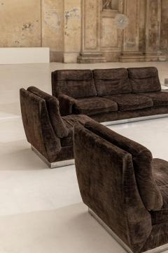 Willy Rizzo Living Room Set Two Sofas Two Armchairs and One Coffee Table - 1835094