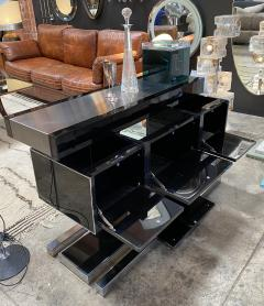 Willy Rizzo Mid Century Modern Italian Dry Bar by Willy Rizzo 1970s - 1536023