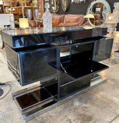Willy Rizzo Mid Century Modern Italian Dry Bar by Willy Rizzo 1970s - 1536027