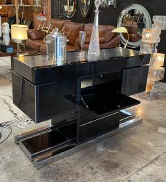 Willy Rizzo Mid Century Modern Italian Dry Bar by Willy Rizzo 1970s - 1536030