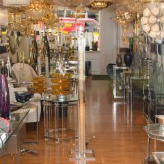 Willy Rizzo Pair of Brass and Chrome Floor Lamps - 68377