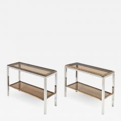 Willy Rizzo Pair of Console Tables by Willy Rizzo - 595346