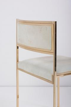 Willy Rizzo Set of 6 Dining Chairs complete in Brass Gold by Willy Rizzo - 1188159