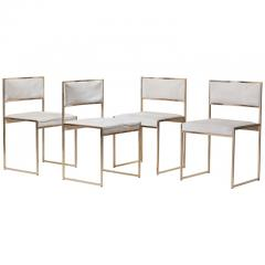 Willy Rizzo Set of Four Brass Dining Chairs by Willy Rizzo - 1050690