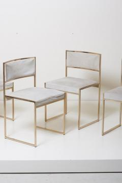 Willy Rizzo Set of Four Brass Dining Chairs by Willy Rizzo - 1050691