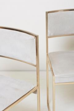 Willy Rizzo Set of Four Brass Dining Chairs by Willy Rizzo - 1050692