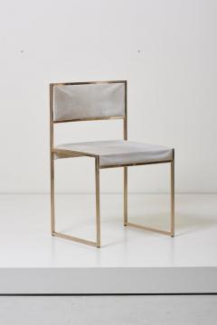 Willy Rizzo Set of Four Brass Dining Chairs by Willy Rizzo - 1050693