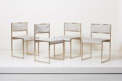 Willy Rizzo Set of Four Brass Dining Chairs by Willy Rizzo - 1050694