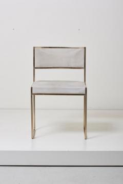 Willy Rizzo Set of Four Brass Dining Chairs by Willy Rizzo - 1050697