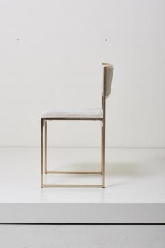 Willy Rizzo Set of Four Brass Dining Chairs by Willy Rizzo - 1050698