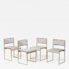 Willy Rizzo Set of Four Brass Dining Chairs by Willy Rizzo - 1051714