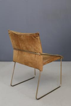 Willy Rizzo Set of four chairs by Willy Rizzo in Brass and Chamois Beige from the 1970s - 1127072