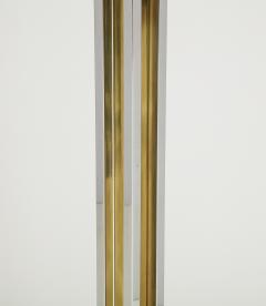 Willy Rizzo Willy Rizzo Brass And Chrome Floor Lamp - 1977807