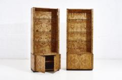 Willy Rizzo Willy Rizzo Burlwood Bookcases France 1970 - 2124877
