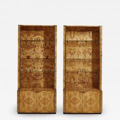 Willy Rizzo Willy Rizzo Burlwood Bookcases France 1970 - 2125775