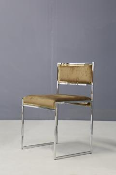 Willy Rizzo Willy Rizzo Set of six MidCentury chair in brass and chamois 1960s - 1169385