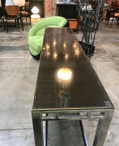 Willy Rizzo Willy Rizzo Signed Chrome with Double Shelved Console Table Italy 1970s - 1067087