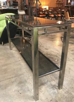 Willy Rizzo Willy Rizzo Signed Chrome with Double Shelved Console Table Italy 1970s - 1067089