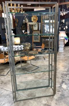 Willy Rizzo Willy Rizzo Vintage Chrome Bookcase Italy 1970s - 1070104