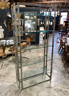 Willy Rizzo Willy Rizzo Vintage Chrome Bookcase Italy 1970s - 1070106