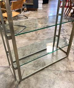 Willy Rizzo Willy Rizzo Vintage Chrome Bookcase Italy 1970s - 1070107