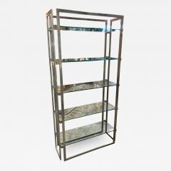 Willy Rizzo Willy Rizzo Vintage Chrome Bookcase Italy 1970s - 1071551