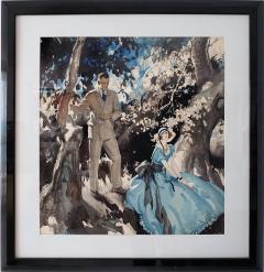 Wilmot Emerton Heitland Art Deco Handsome Couple in Garden Illustration - 1168131