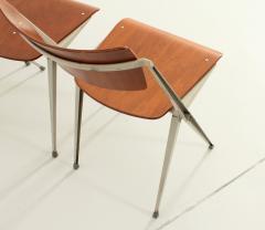Wim Rietveld Set of Four Pyramide Chairs by Wim Rietveld for De Cirkel - 2009502