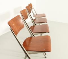 Wim Rietveld Set of Four Pyramide Chairs by Wim Rietveld for De Cirkel - 2009504