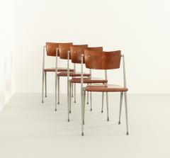 Wim Rietveld Set of Four Pyramide Chairs by Wim Rietveld for De Cirkel - 2009506