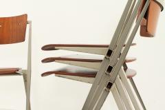 Wim Rietveld Set of Four Pyramide Chairs by Wim Rietveld for De Cirkel - 2009507