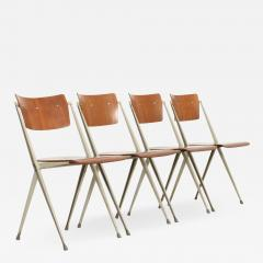 Wim Rietveld Set of Four Pyramide Chairs by Wim Rietveld for De Cirkel - 2011058