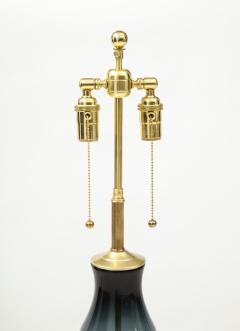 Winslow Blenko Monumental Blenko Smoky Blue Grey Glass Lamp - 1924305