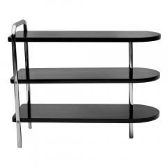 Wolfgang Hoffmann Pair of Streamline Art Deco Side Tables by Wolfgang Hoffman for Troy - 1460180