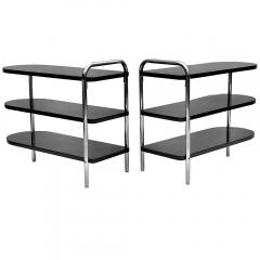 Wolfgang Hoffmann Pair of Streamline Art Deco Side Tables by Wolfgang Hoffman for Troy - 1460181