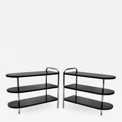 Wolfgang Hoffmann Pair of Streamline Art Deco Side Tables by Wolfgang Hoffman for Troy - 1461948
