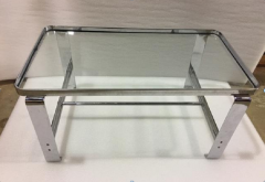 Wolfgang Hoffmann Wolfgang Hoffmann Coffee Table with Glass Shelves c 1930 - 665192